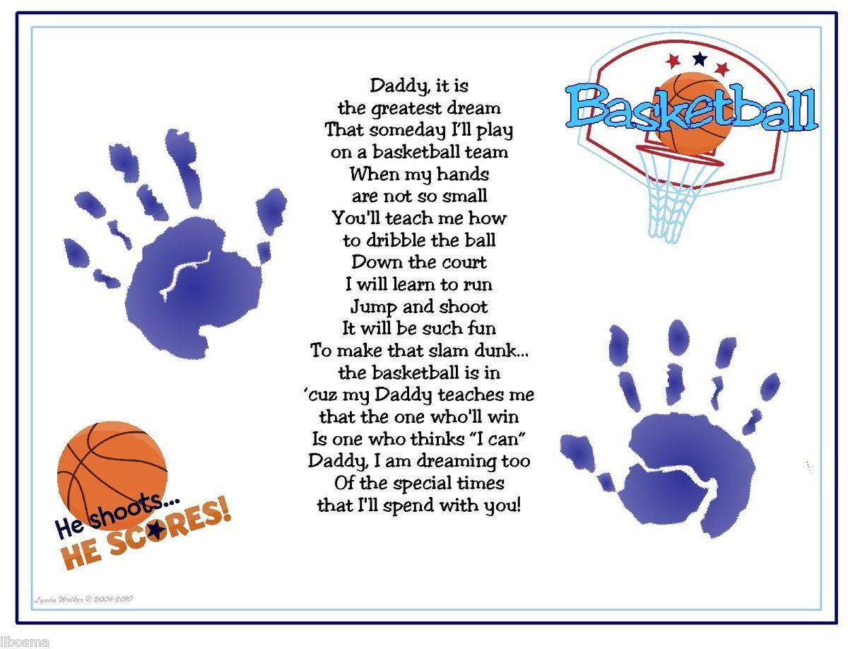 Daddy teach me basketball poem baby handprints christmas