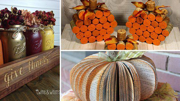 16 Charming Handmade Thanksgiving Centerpiece Ideas That Will Attract Attention #weckgläserdekorieren