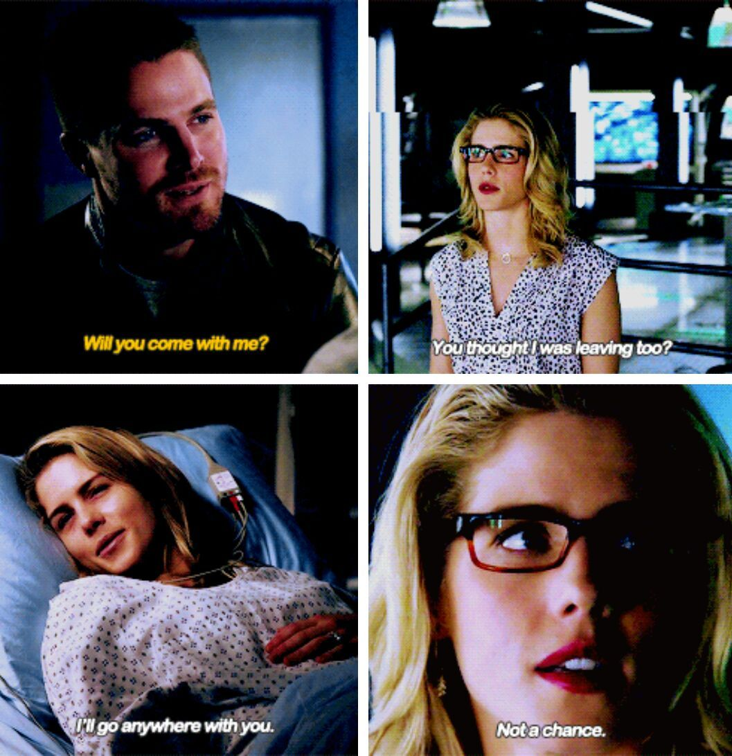 If you're not leaving, I'm not leaving. #Olicity #Arrow -- ( #4x10 // #4x23 )