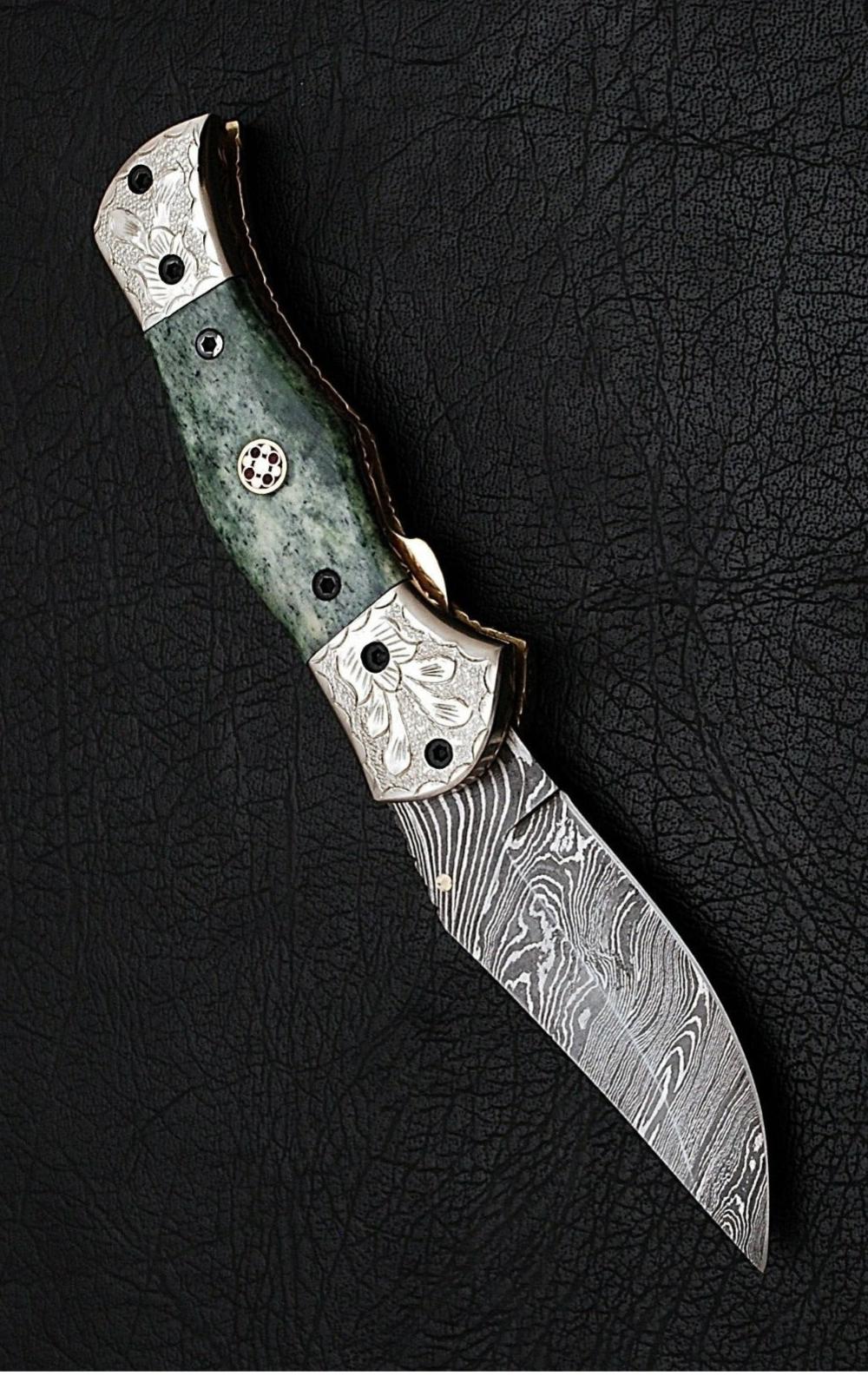 Buy Damascus Steel Knives Online At Scorpion Mart Engraved Pocket Knives Damascus Steel Custom Pocket Knives