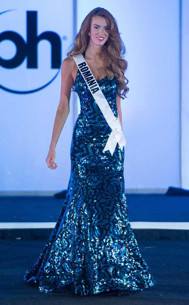 Miss Romania from Miss Universe 2017 Evening Gown Competition ...