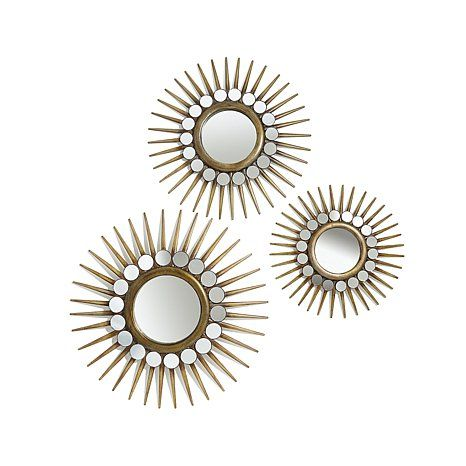 Colin Cowie 3 Piece Starburst Mirror Set Wall Decorations