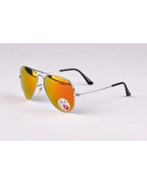 Idéal Ray-Ban Aviator Metal RB 3025 Argent Rouge 003 58   rayban ... a8ea39191f35
