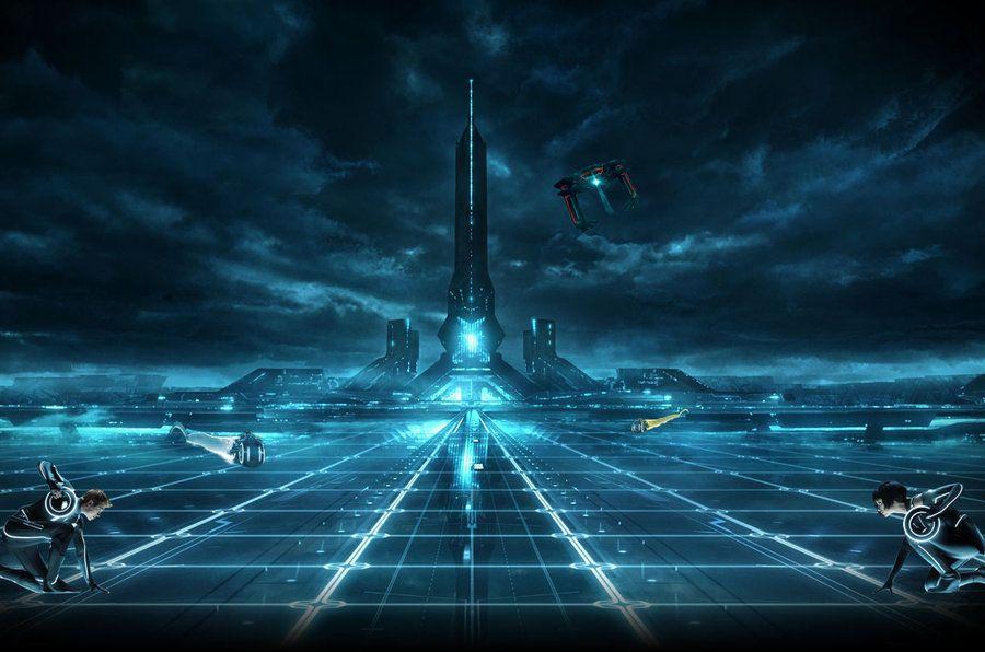 Raster 21 Jhdt Tron Legacy Tron Sci Fi City