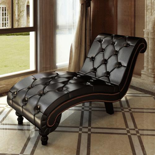 Divan canap m ridienne sofa chaise longue capitonn marron chocolat meubles d int rieur - Chaise longue d interieur ...