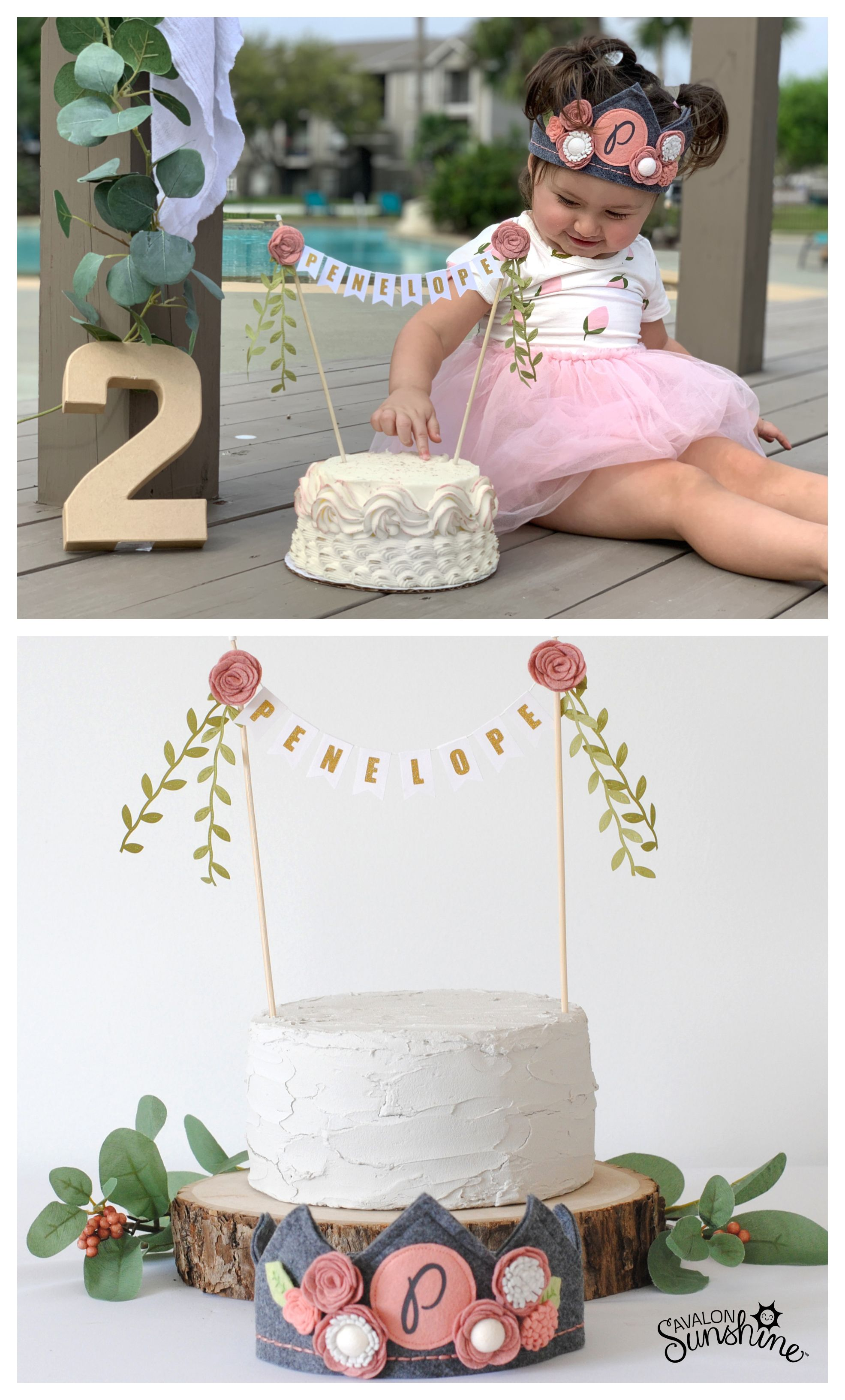 Girls flower cake topper girl cakes birthday cake girls