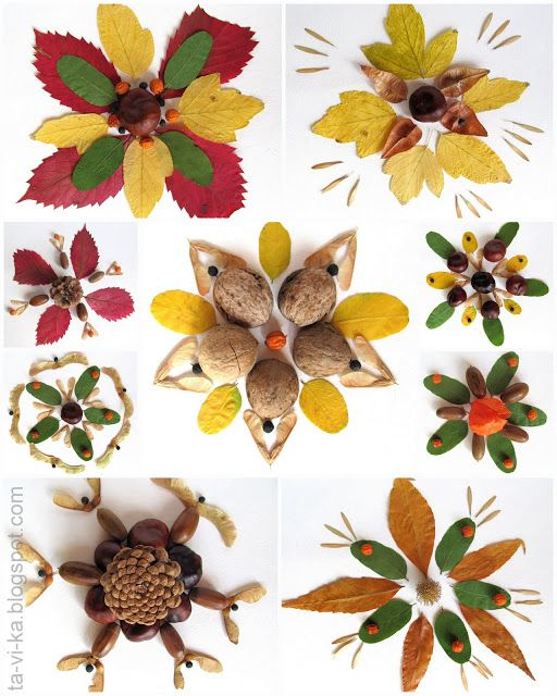Поделки из листьев или природного материала 13
