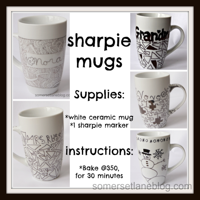 Easy To Make Sharpie Marker Mugs Will Great Home Made Gifts For Kids