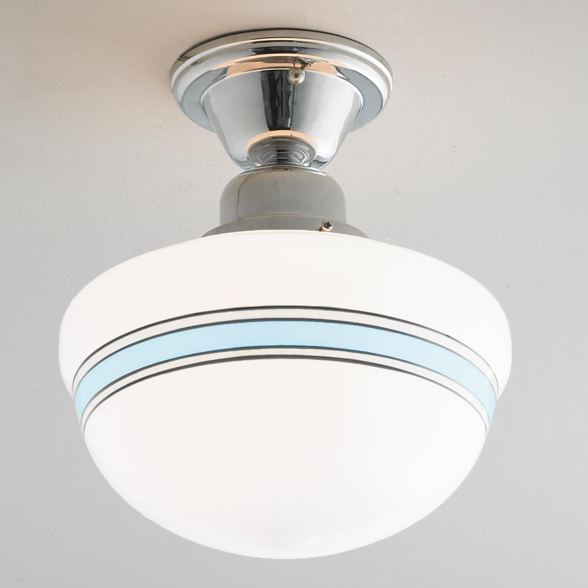 Striped Schoolhouse Ceiling Light Ceiling Lights Ceiling Light Shades Cottage Lighting