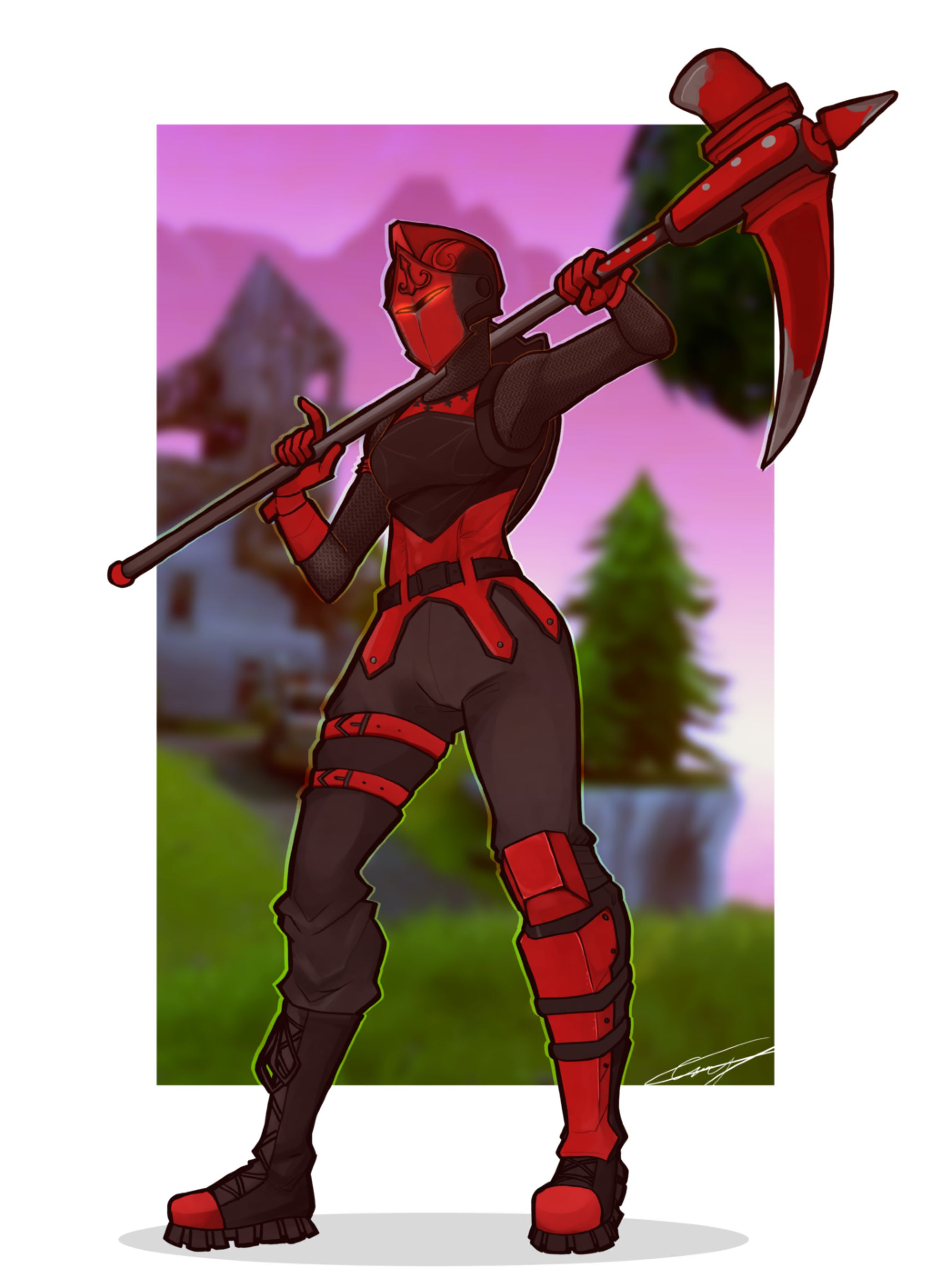 Red Knight By Caseykeshui On Deviantart Fortnite In 2019 Red