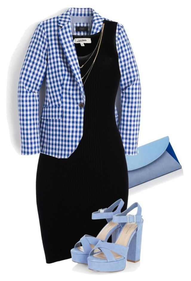 """""""blue sky"""" by ele88na ❤ liked on Polyvore featuring L.K.Bennett, J.Crew, Jean-Paul Gaultier and Jessica Simpson"""