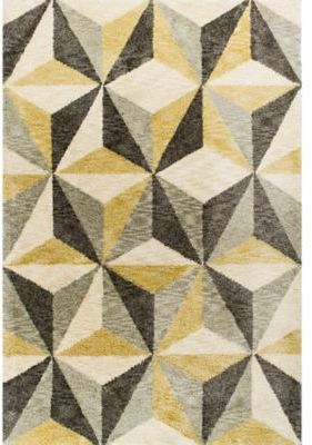 Kas Mission Geometric 7 Foot 6 Inch X 9 Foot 6 Inch Shag Area Rug In Ivory Rugs Indoor Rugs Area Rugs