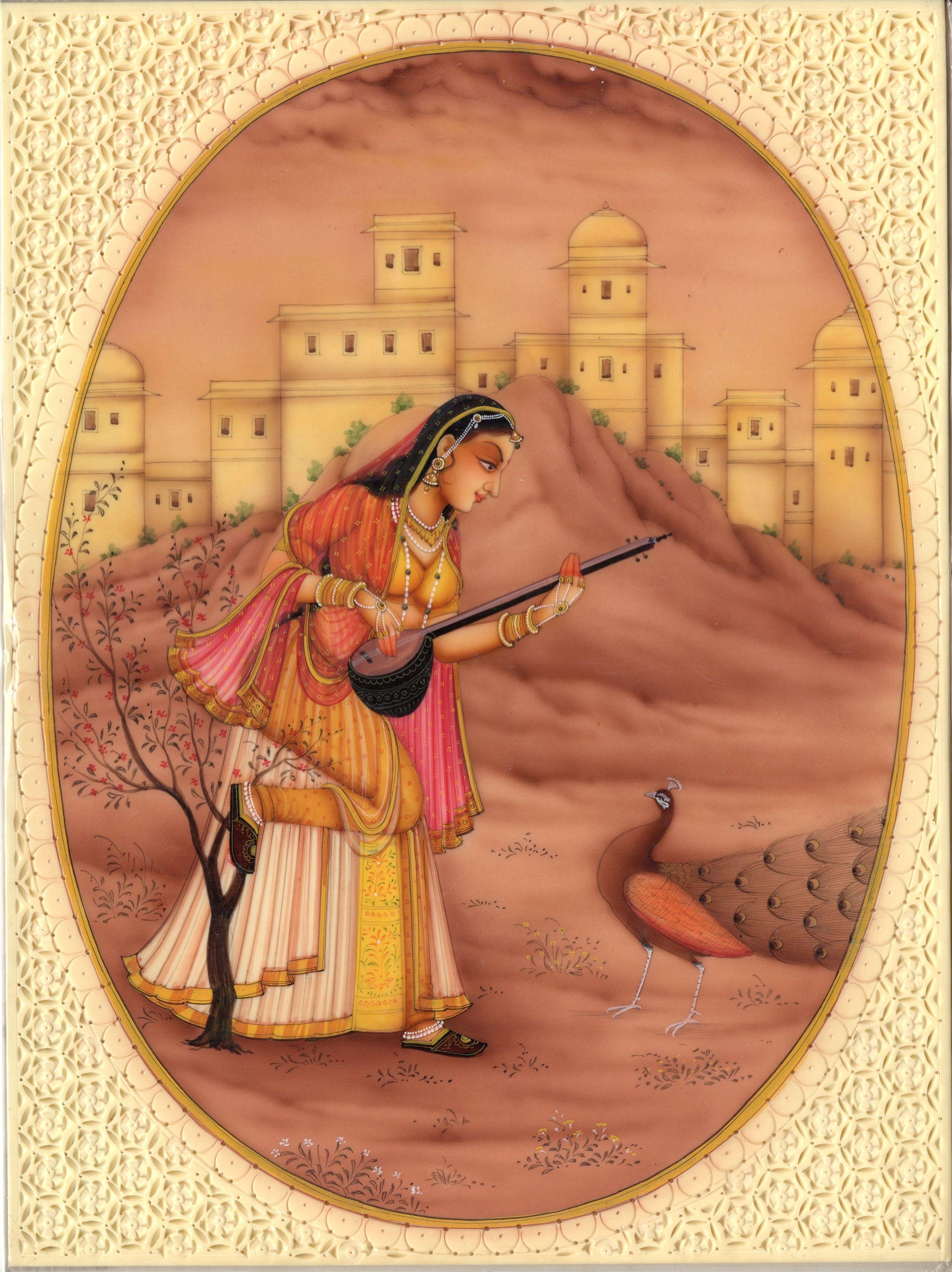 Artnindia rajasthani miniature paintings miniature