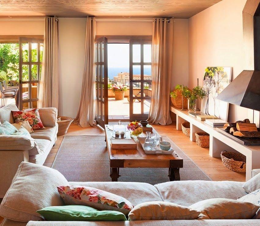 Com vista para o mar Decoración casas Pinterest Sala de estar
