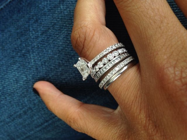 Stacks Tiffany Wedding Rings Mens Wedding Rings Stacked Wedding Rings