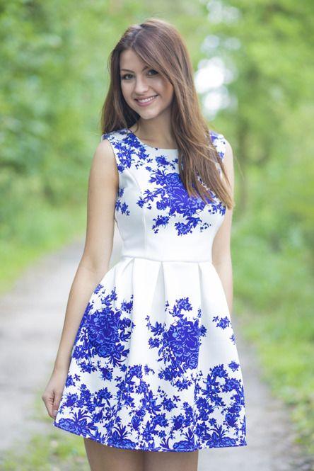 Sukienka Ecru W Chabrowe Kwiaty Fashion Dresses Graduation Dress