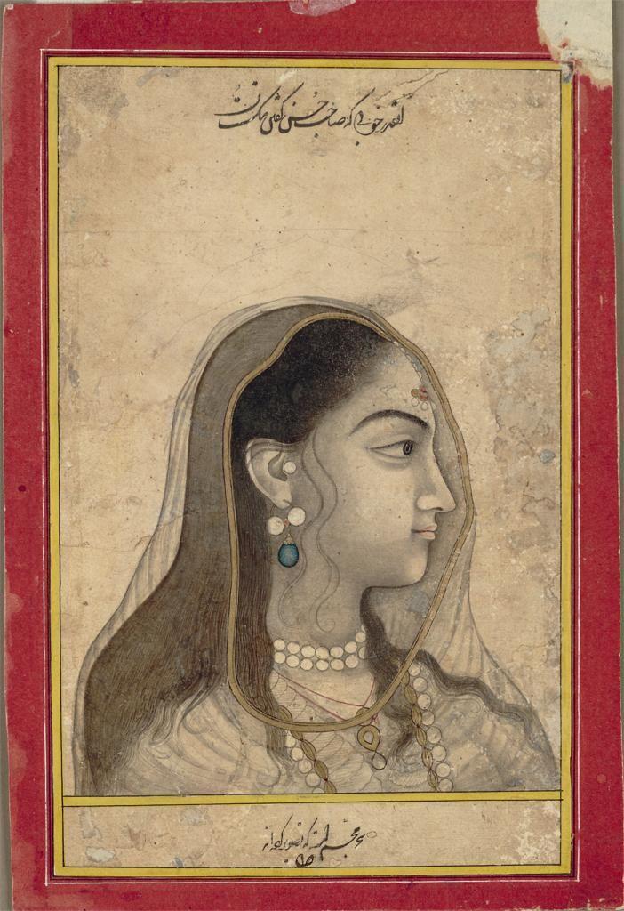 mughal school (1550-1880)  c.1750