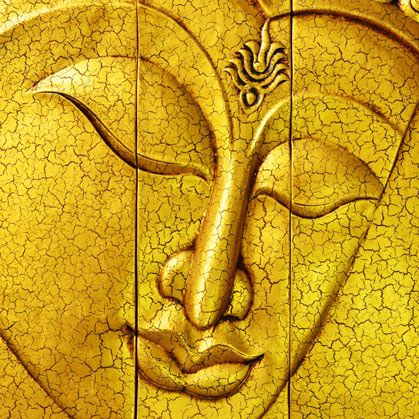 Gold Buddha for Wall Decor by Print a Wallpaper - Offering Wallpaper ...