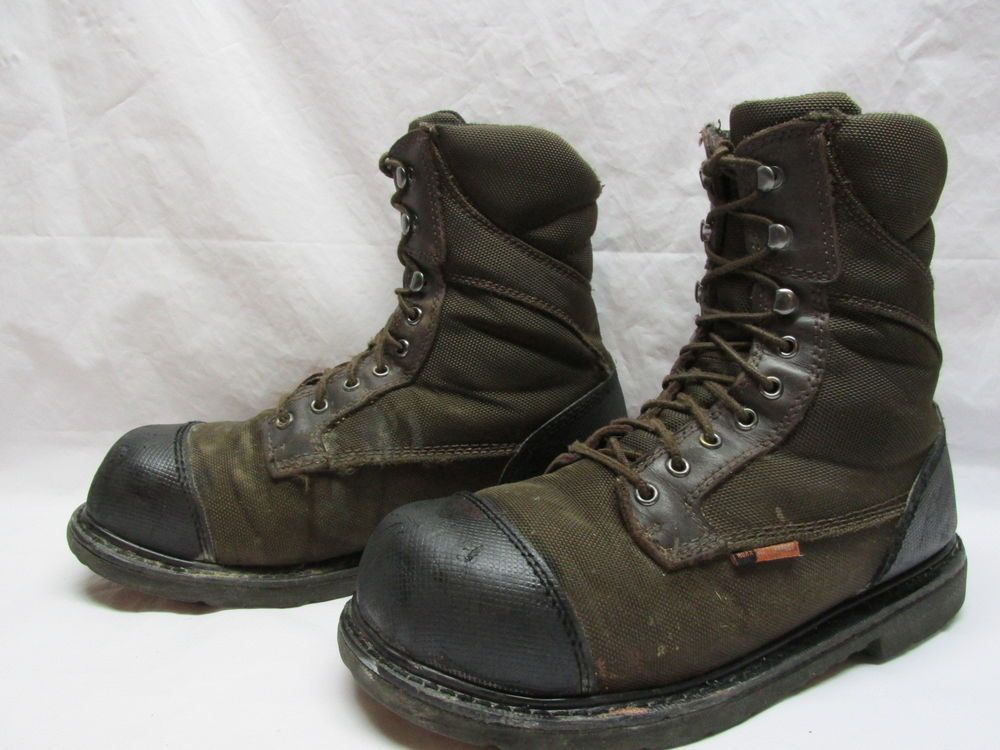Red wing 5803 worx mens 115 m brown steel toe lace up