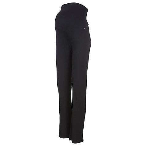 3649faa738e6e Buy Mamalicious Rosa Maternity Jersey Straight Trousers, Black Online at  johnlewis.com