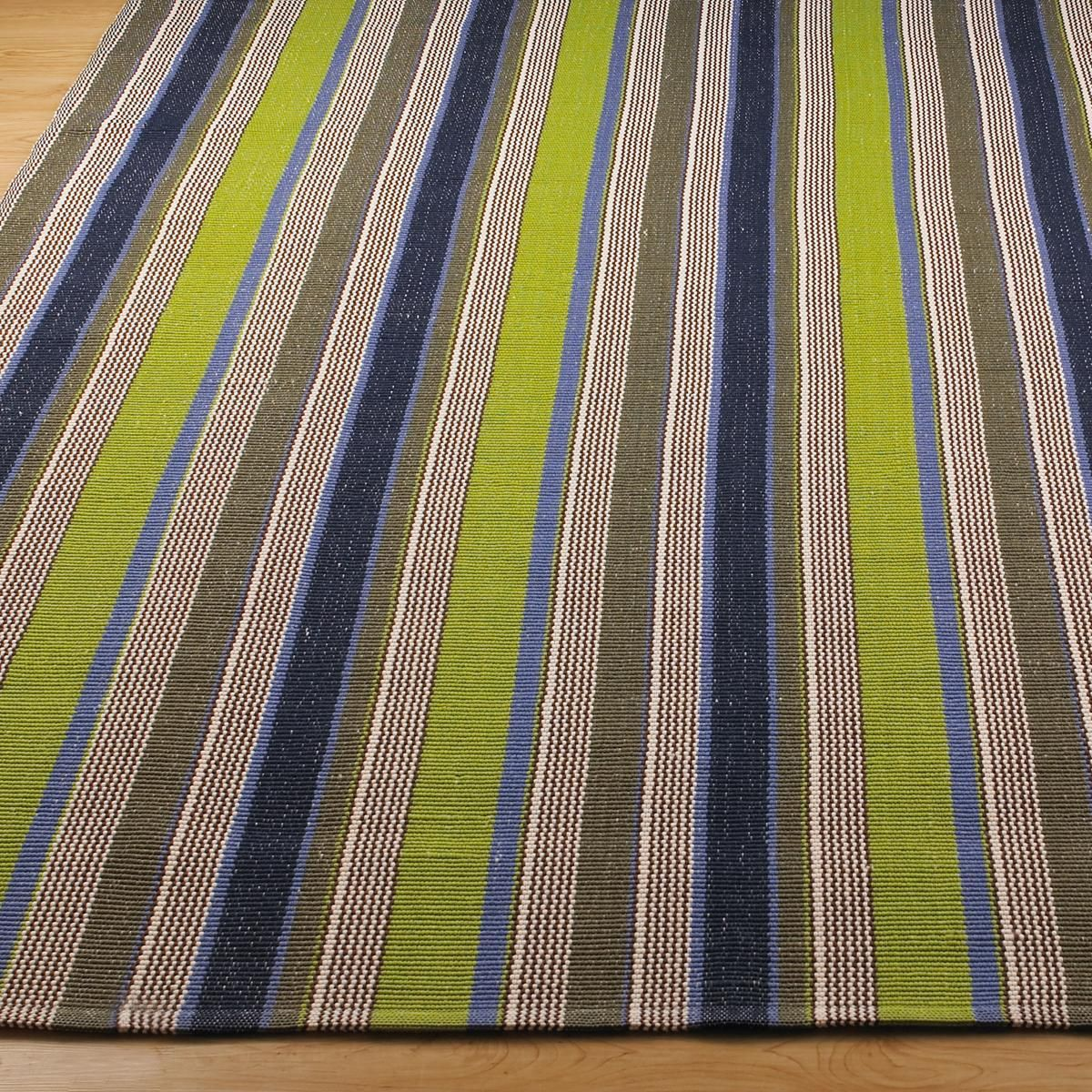 Lakehouse Stripe Indoor Outdoor RugShades Of Fresh Green