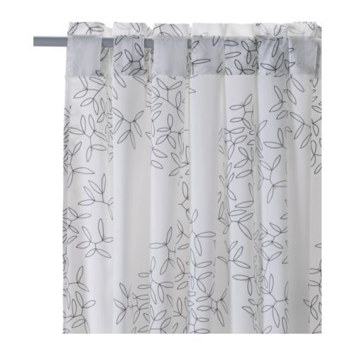 White Curtains black and white curtains ikea : 17 Best images about Window Treatments on Pinterest | Urban ...