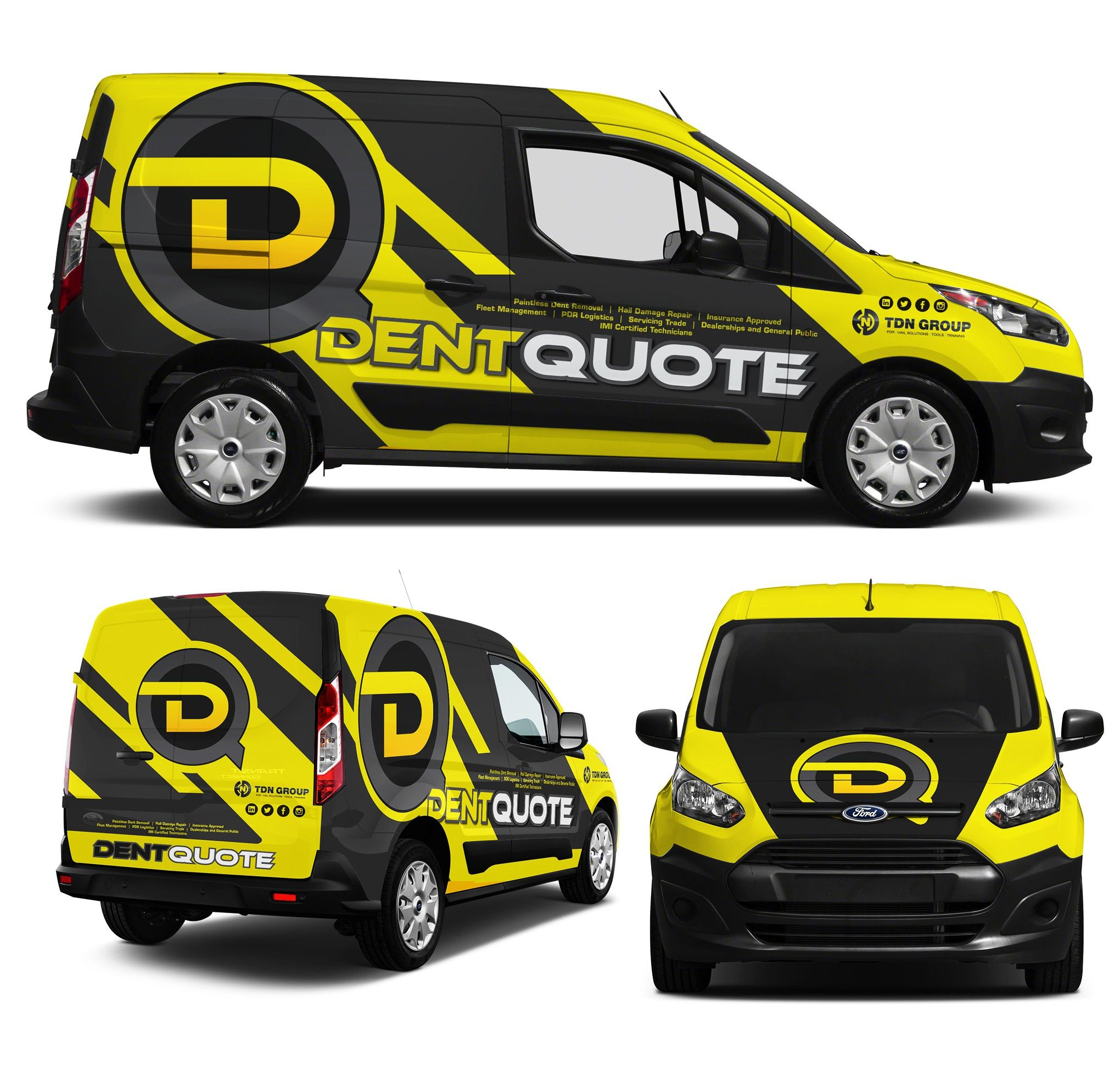 Car stickers advertising - Van Wrap For Dent Quote