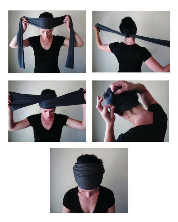 VICTORIAN ROSE Head Scarf, EcoShag Head Wrap, Muted Raspberry Head Scarves for Women, Linen Jersey Hair Wrap, Handmade Boho Hair Scarf