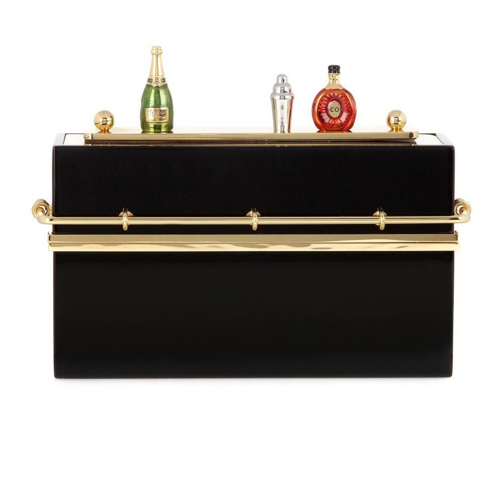 Charlotte Olympia - Mini Bar embellished box clutch - mytheresa.com