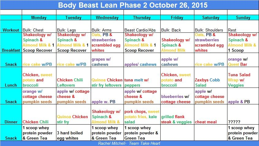 30 day lean diet and workout
