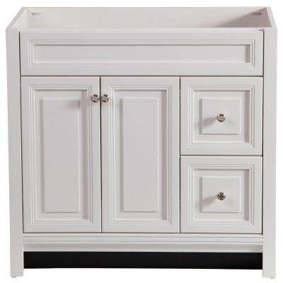 Brinkhill 36 In W X 34 In H X 22 In D Bath Vanity Cabinet Only In Cream Home Depot Bathroom Vanity Home Depot Bathroom Vanity Cabinet