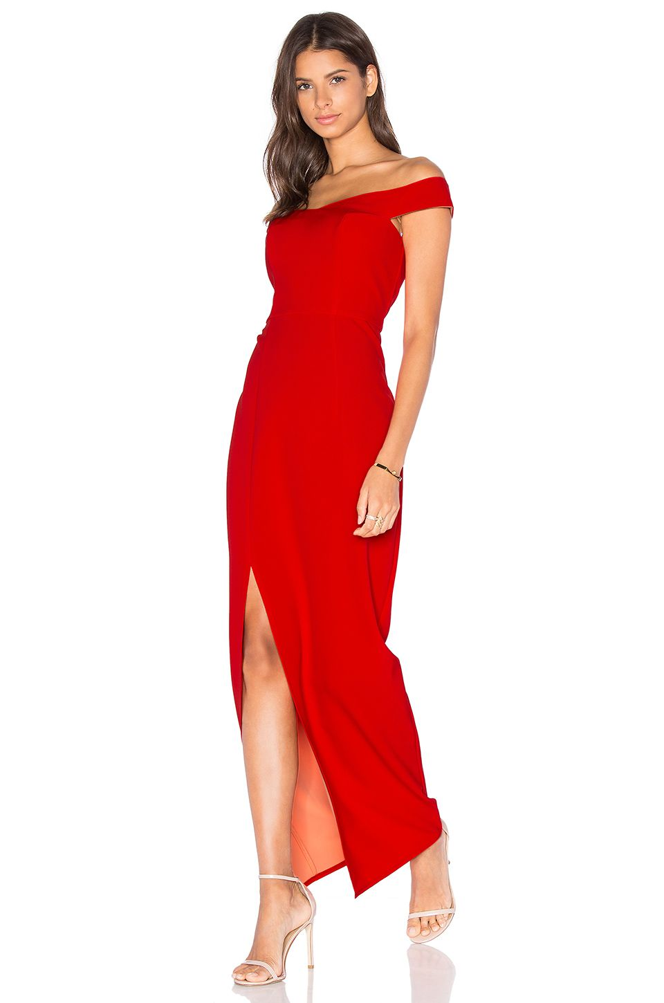 c69dd335b45d Lumier Go Your Own Way Off The Shoulder Maxi Dress in Red