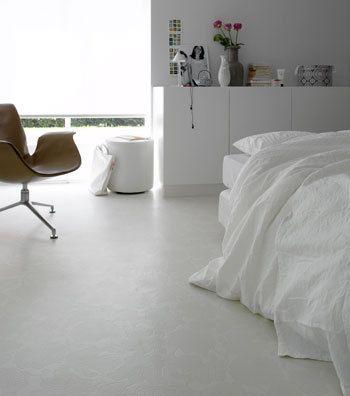 Wit vinyl vloer
