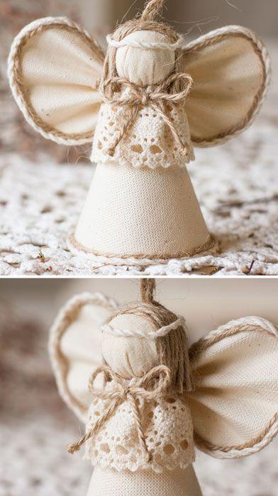 Angel Birthday Present Handmade Wedding Gift Ecofriendly Linen Toy