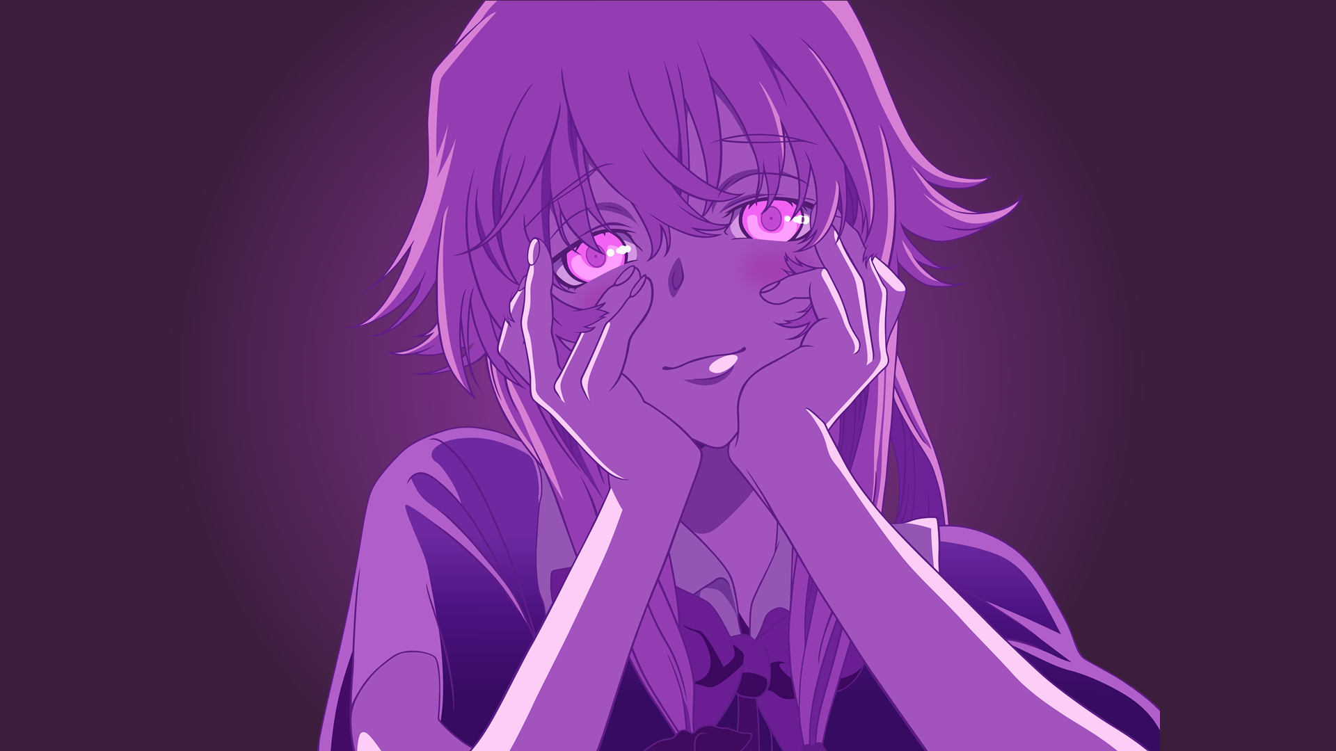 anime, Mirai Nikki, anime girls, Gasai Yuno, yandere