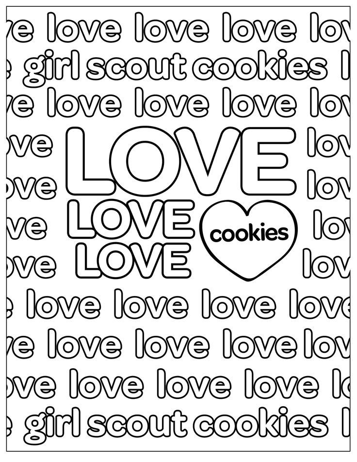 abc cookie coloring page girl scout coloring pages pinterest