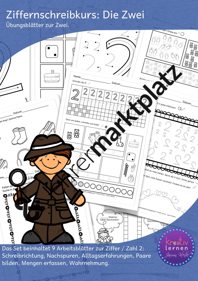 Ziffernschreibkurs: Die Zwei – Lehreralltag, Mathematik   Pinterest