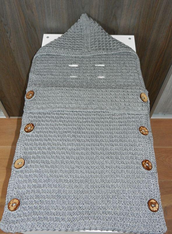 voetenzak voor de maxi cosi grijs baby deken haken pinterest maxis grijs en haken. Black Bedroom Furniture Sets. Home Design Ideas
