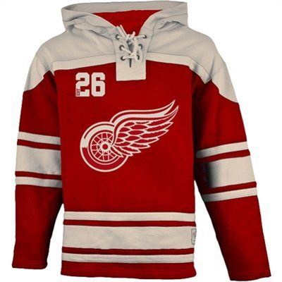 Old Time Hockey Detroit Red Wings Lace Up Jersey Fleece Hoodie Team Hoodies Red Wings Hoodie Hockey Outfits