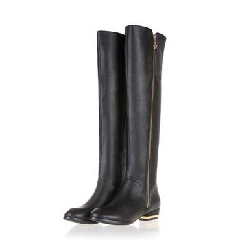 2013 New women's genuine leather fashion zipper riding boot, top quality designer cowhide long boots sizes 34-45 free shipping
