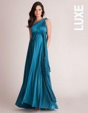 e471b0dca2e03 Blue Multiway Maternity Maxi Dress Profile | baby on board | Dresses ...