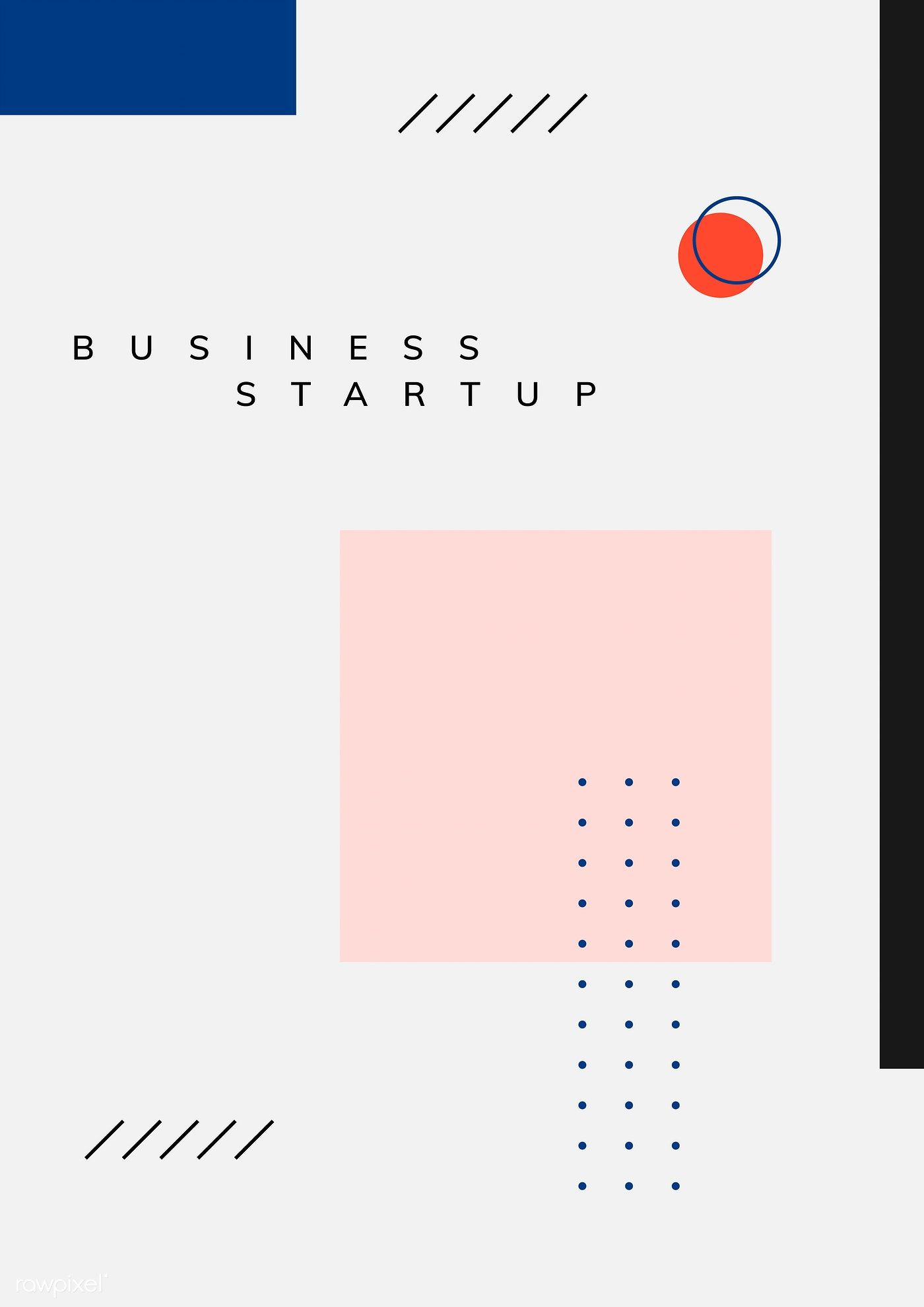 Minimal Memphis business start-up poster vector | free image by rawpixel.com / Kappy Kappy #memphisdesign