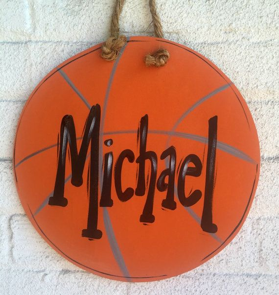 Basketball, Sign, Plaque, Basketball Sign, Door Sign, Bedroom Door