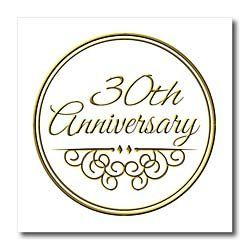 InspirationzStore Occasions 30th Anniversary Gift Gold Text For Celebrating Wedding Anniversaries 30 Years
