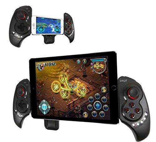 """iPega Newest Extendable gamepad Game Controller Portable Bluetooth Wireless Gamepad Joystick Control for Android Samsung Galaxy Note 3 S5 HTC Sony Xperia LG and iOS iPhone 6 5S 5C 5 iPad 5 4 iPod, Supports Up to 10"""" Smartphone or Tablet PC IPEGA http://www.amazon.com/dp/B00OZEO576/ref=cm_sw_r_pi_dp_Ye1rwb0NSQEH2"""