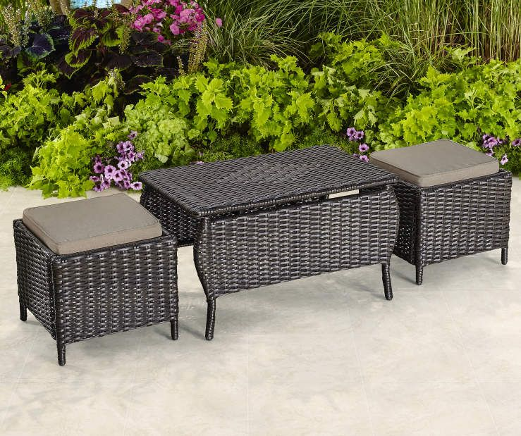 Best Westwood 3 Piece All Weather Wicker Coffee Table With 400 x 300