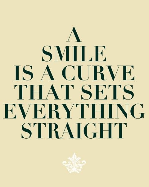 A Smile Is A Curve That Sets Everything Straight Digital Print 8x10 On A4 Words Quotes Inspirational Quotes
