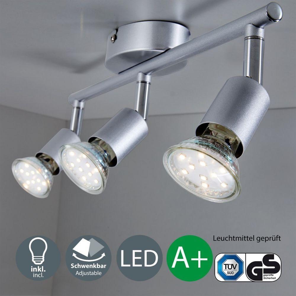 Großartig Lampe 3 Flammig Foto Von Led Deckenleuchte Wohnzimmer Gu10 Spot-leuchte Decken-lampe Büro