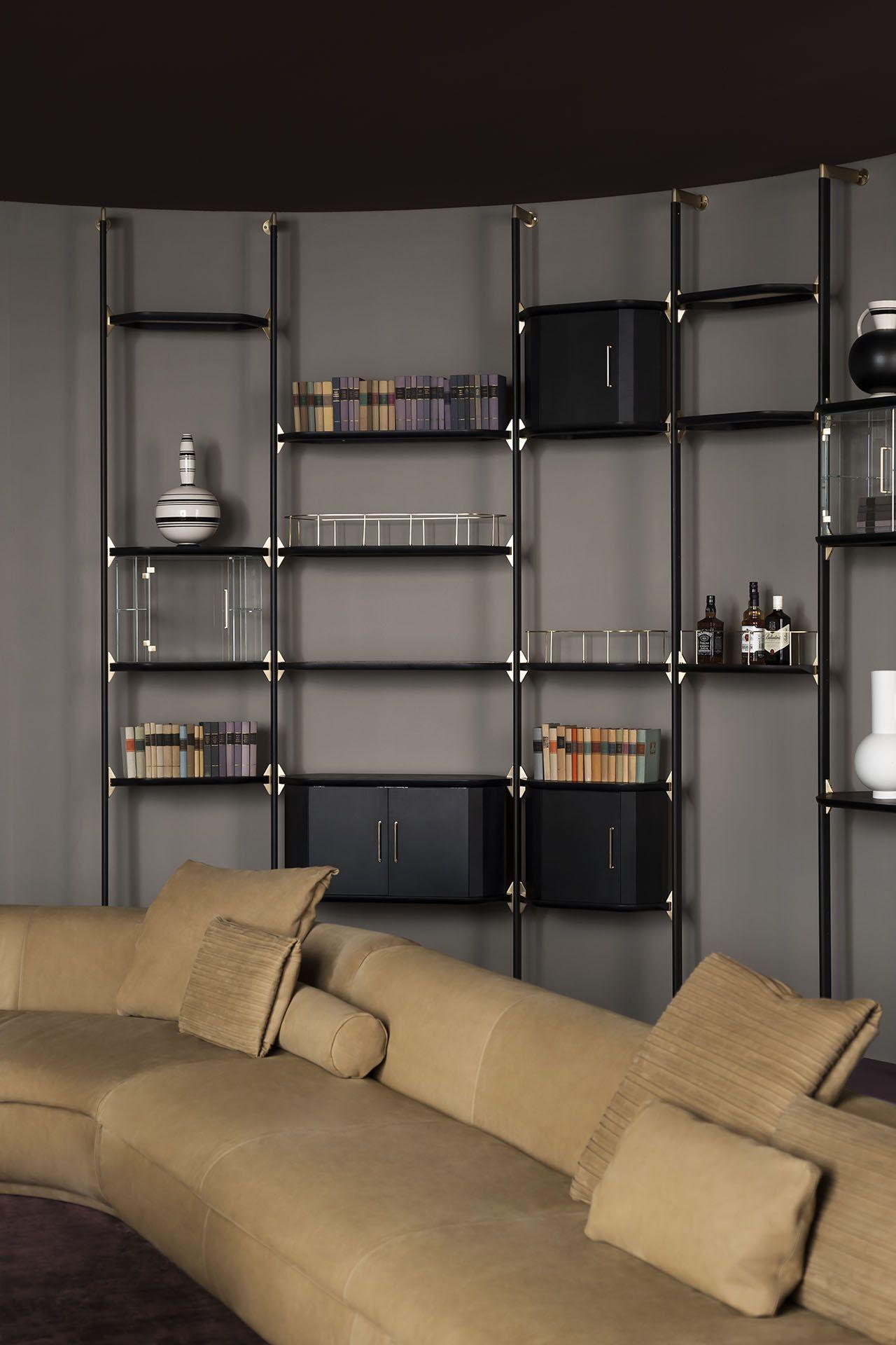 Luxury Showcase For Living Room Royal Art Deco: LIBRERIA LIBELLE