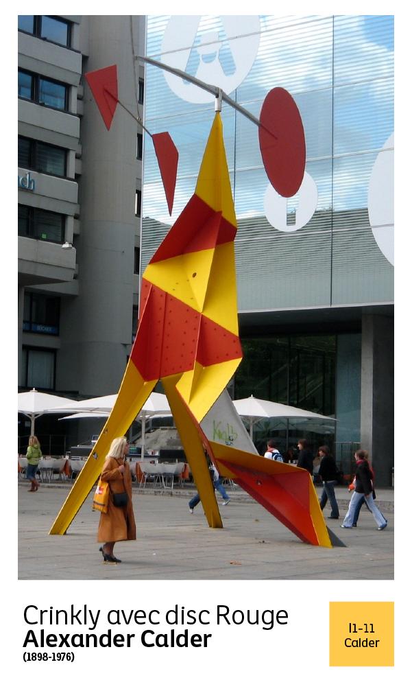 """Los """"stabiles"""" o esculturas no móviles creadas por Calder, estaban apoyadas sobre una base y hechas de alambres, con círculos, líneas rotas, rectas o curvas, etc.  #Art #Calder #Colorful #Comex #Design"""